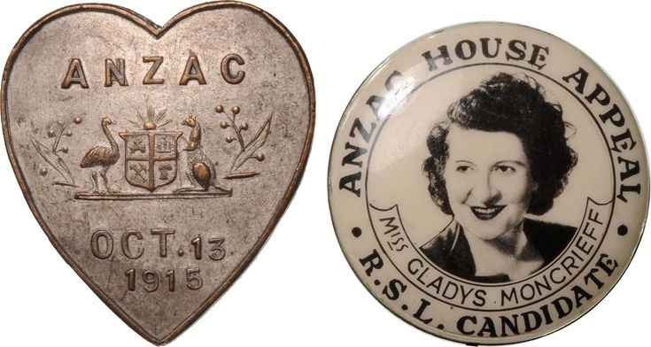 Early ANZAC (Australian and New Zealand Army Corps) Day badges.