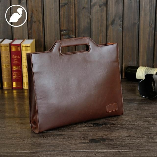 ETONWEAG Famous Brands Italian Leather Briefcases Men Messenger Bags Brown Vintage Lawyer Document Briefcase Mens Office Bags
