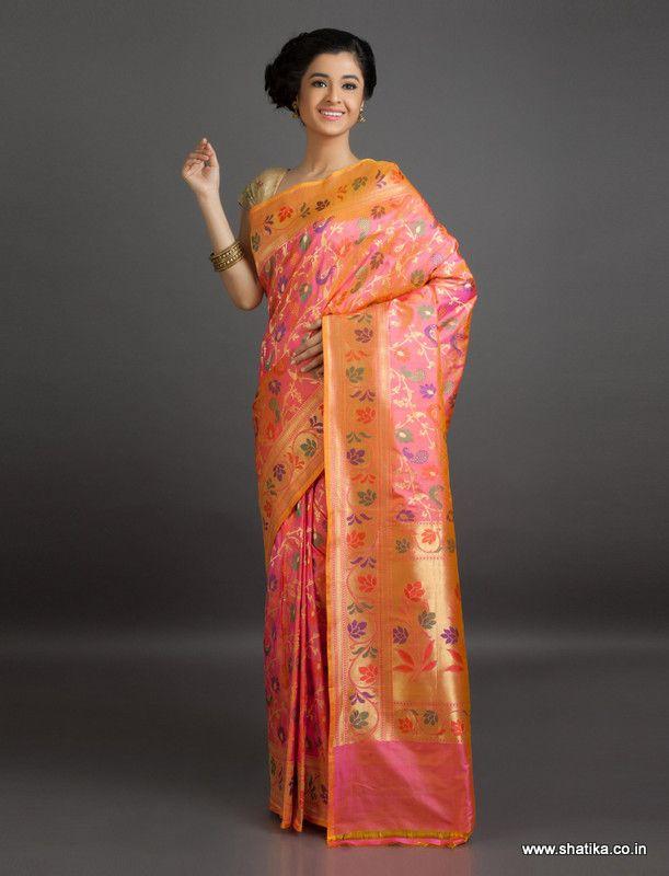 Kamala Blossom of Brocade #Wedding #BanarasiShaluSilkSaree