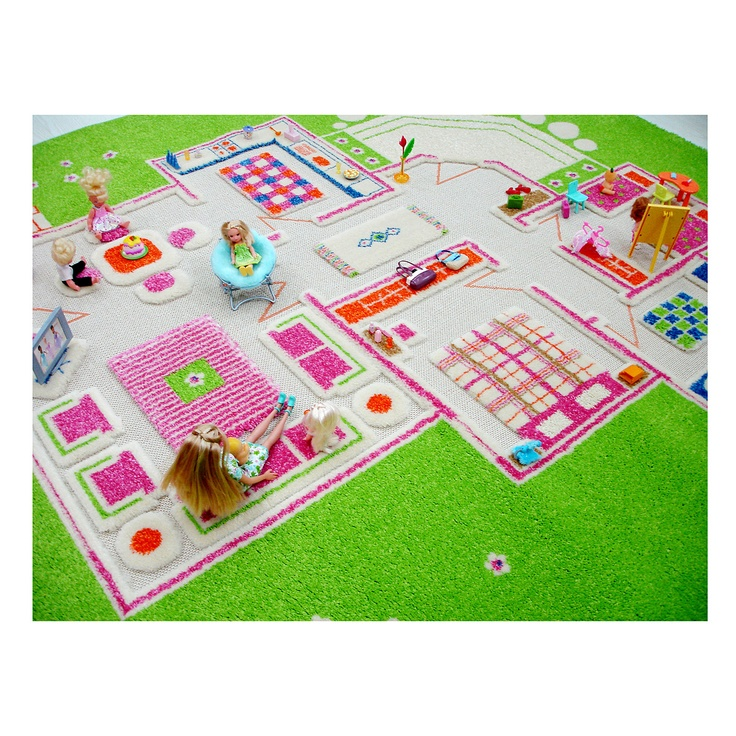 Oriental Weavers Rugs PLAYHOUSE D CARPETS Play Rug Toy Creative Imaginative Imagination House