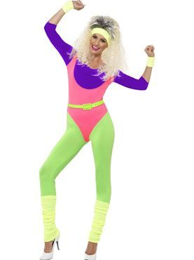 Adult 80s Workout Costume