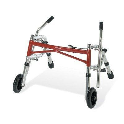 Children's Strider Walker by Medline. $119.00. G07782 Features: -Strider walker.-Accommodates most physical requirements with the optional platform attachments.-Handles adjust without tools to an infinite number of positions to provide stability and posture.-90 Degree bend standard (tyke models are 45 degrees).-Extra wide base provides stability, safety and balance.-Outfitted with 5'' front wheels to easily roll over irregular surfaces.-Tyke-red.