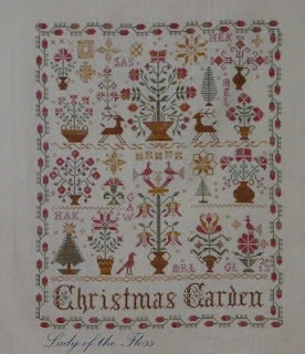 Blackbird designs christmas garden by lady of the floss for Christmas garden blackbird designs