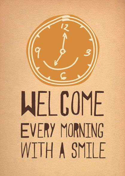 If you always welcome your students with a smile, it sets the tone for the entire day.