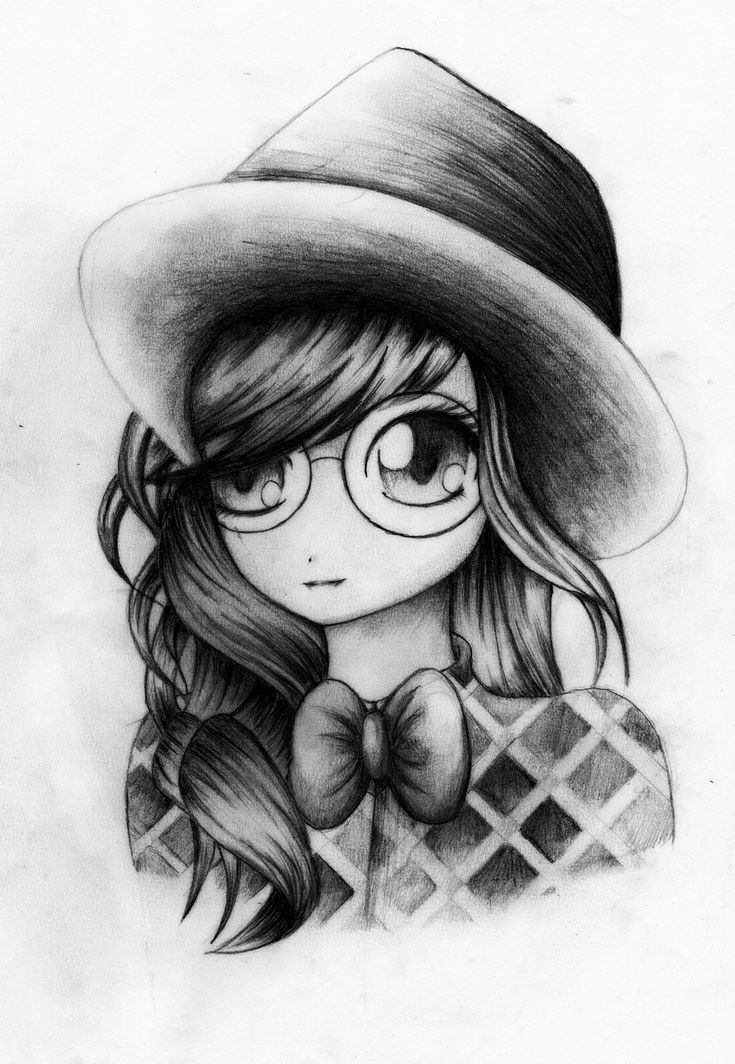 drawing of an anime that i found. she is so cute. | Anime drawings ...