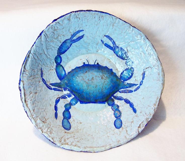 Chesapeake Blue Crab Bowl. $25.00, via Etsy.