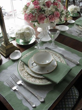 a perfect spring luncheon table or even a bridesmaid luncheon...