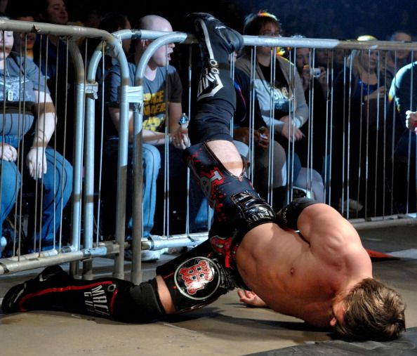 Chris Sabin of TNA Wrestling performs at MEN Arena on January 29 2010 in Manchester England