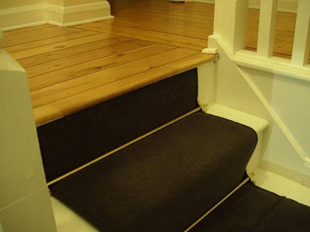 carpet stairs wooden floor landing  Google Search