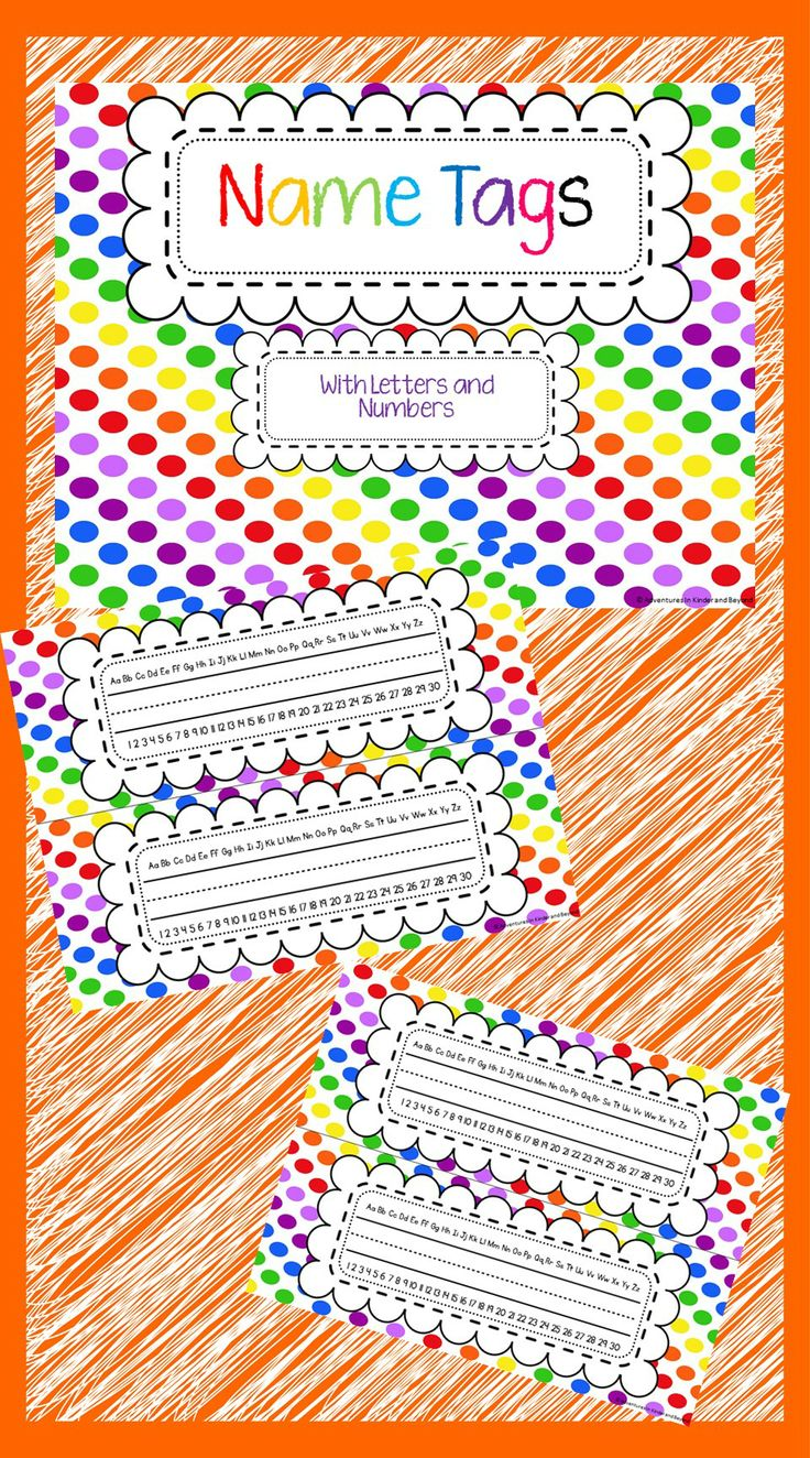 Cute colorful polka dot name tags. Perfect for desks or cubbies   I hope you find them useful!