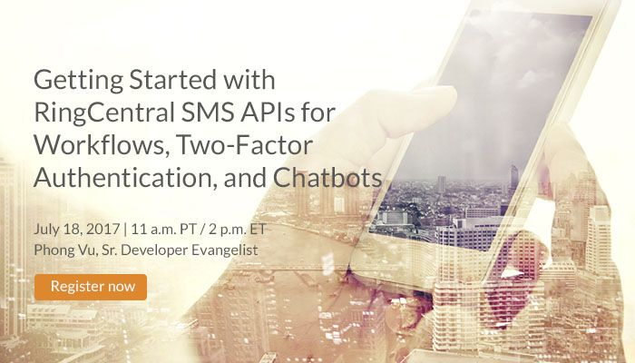 Join our upcoming #Developer #Webinar and learn how to integrate the #JavaScript-based RingCentral #APIs with your existing #business #apps to send text messages, pictures, and more. Click to #register today // #OpenAPI #API #Developers #CloudPlatform
