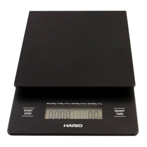 Designed for coffee brewing, this scale is sensitive enough for weighing coffee and big enough to weigh your water. It also has a timer built in!