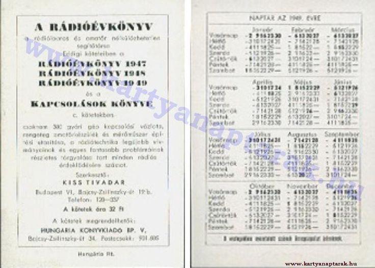 1949 - 1949_0014 - Régi magyar kártyanaptárak