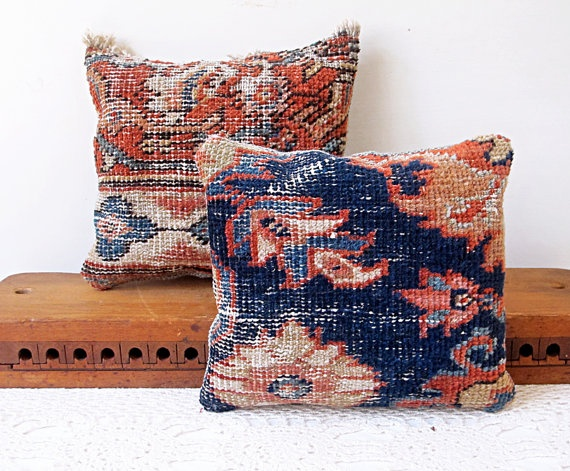 Pillows Made From Old Rugs