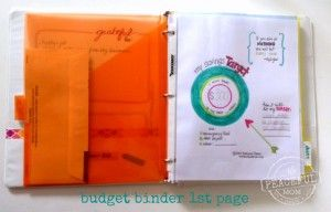 1 Month Money Makeover - Budget Binder first page - Savings Target -- The Peaceful Mom