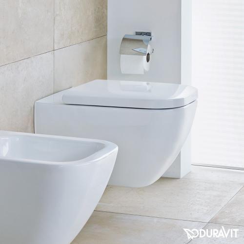 Duravit Happy D.2 Wand-WC, rimless weiß mit WonderGliss