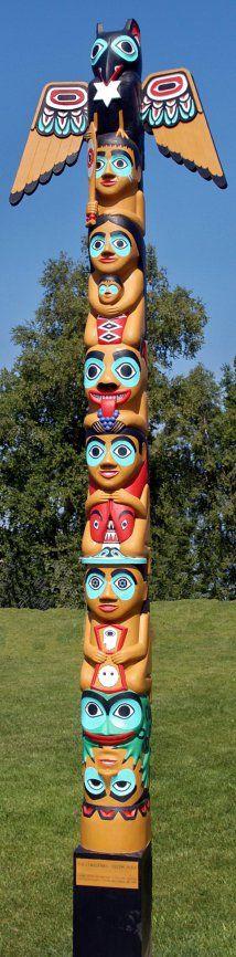 Christmas Totem Pole by David K. Fison
