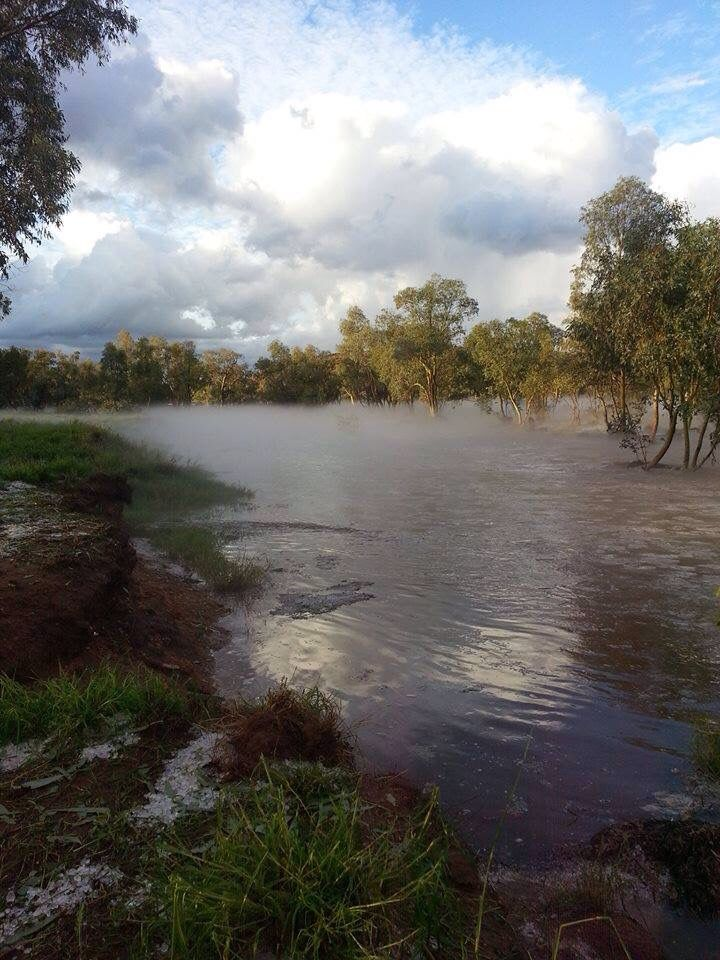 Todd River after hail storm 2016