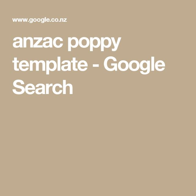 anzac poppy template - Google Search