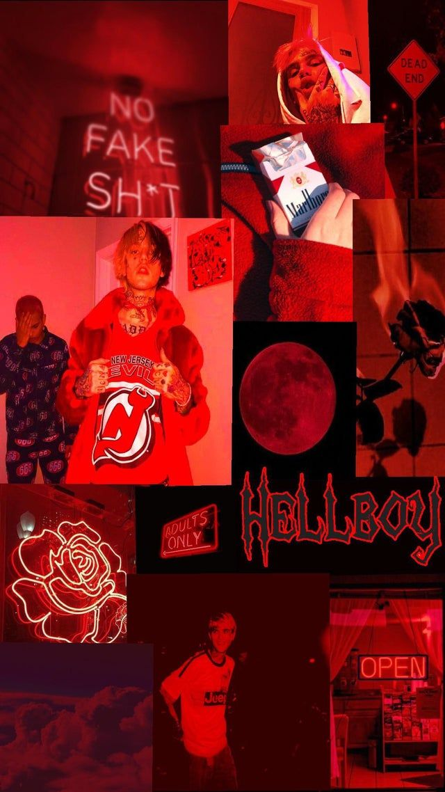 Red Aesthetic Lil Peep Background Lilpeep In 2020 Red Aesthetic Peeps Red