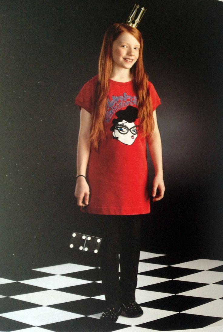 Red Sweatshirt anb black Pants