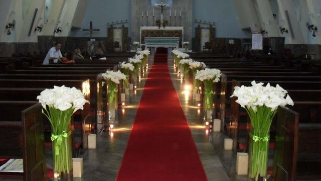 COMO DECORAR IGLESIA PARA BODA CHURCH WEDDING DECORATIONS ...