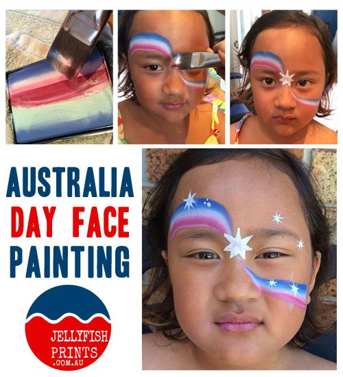 Let us show you how to create an Australia Day face painting design to celebrate this year. #australiaday