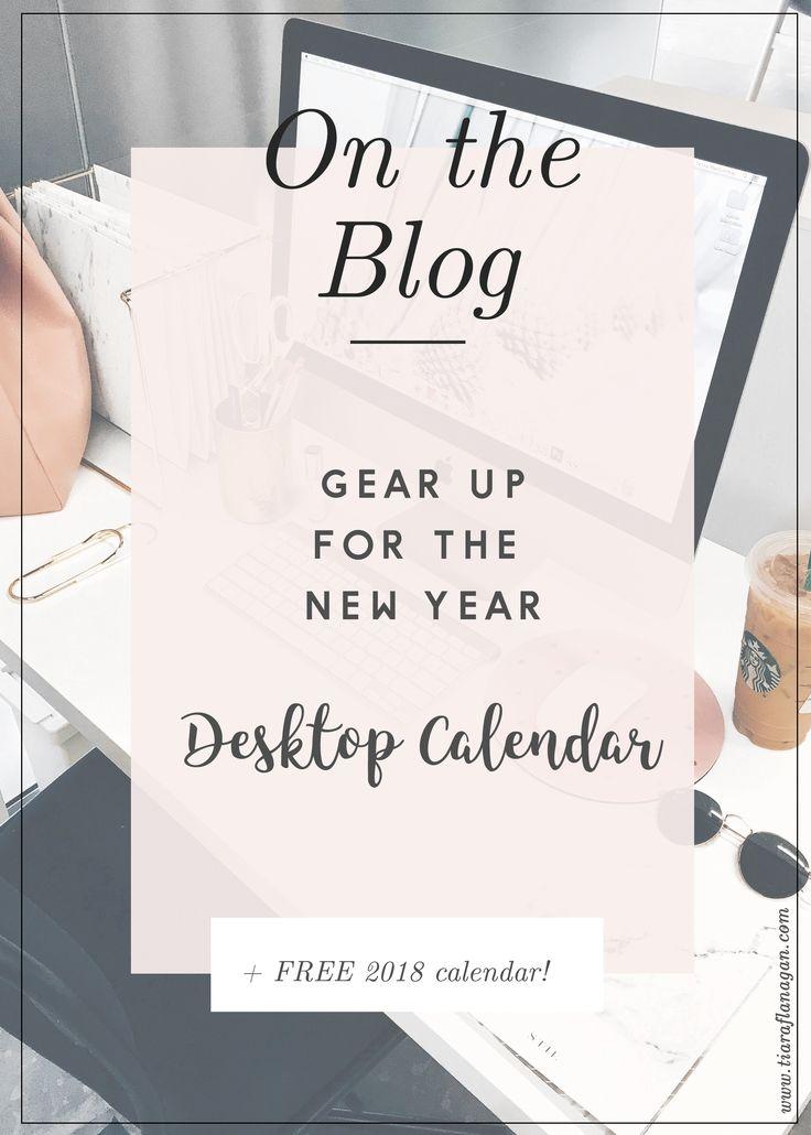 2018 Desktop Calendar   Tiara Flanagan Designs   Freebies
