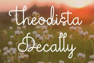 http://Theodista Decally is a font created bySitujuh Nazara.This fonts comes with our commercial license.