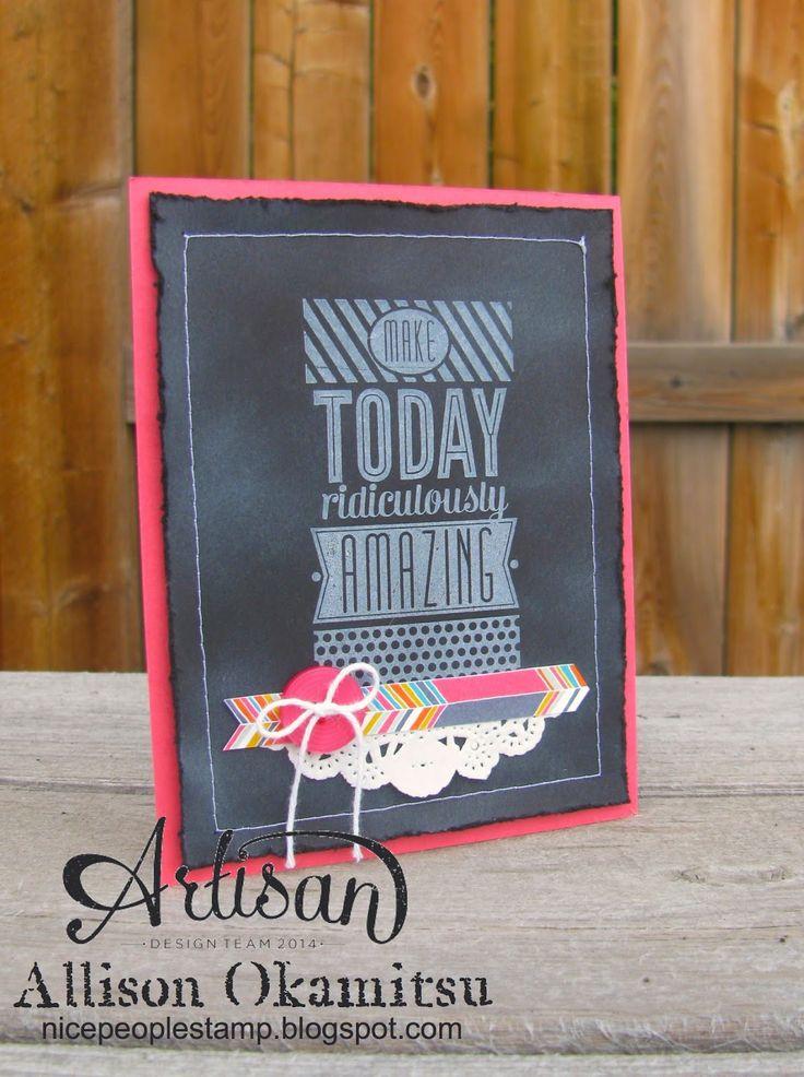nice people STAMP!: Amazing Birthday Goes Chalkboard by Allison Okamitsu