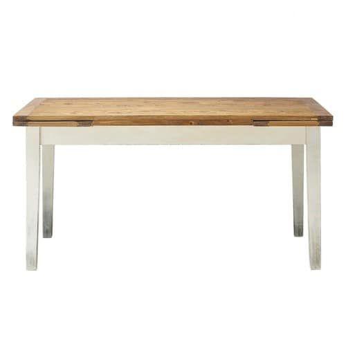 Table de salle à manger à rallonges en bois massif L 160 cm Maison du Monde Table tradition