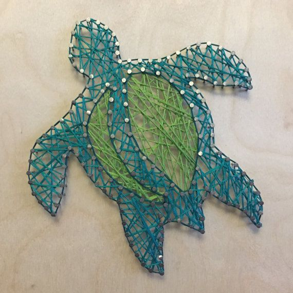 Turtle String Art by MildlySimple on Etsy