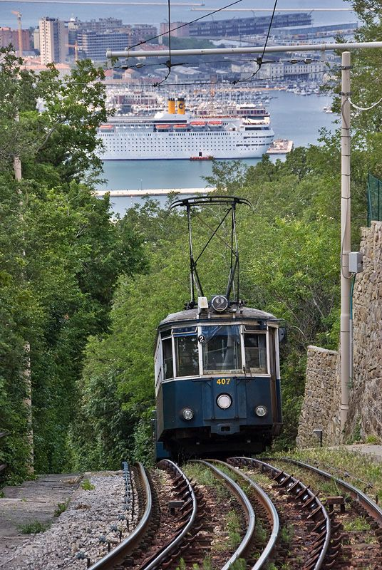 Tram de Opcina, Trieste by markogts. I loved the steep incline to get to my great uncle's house!