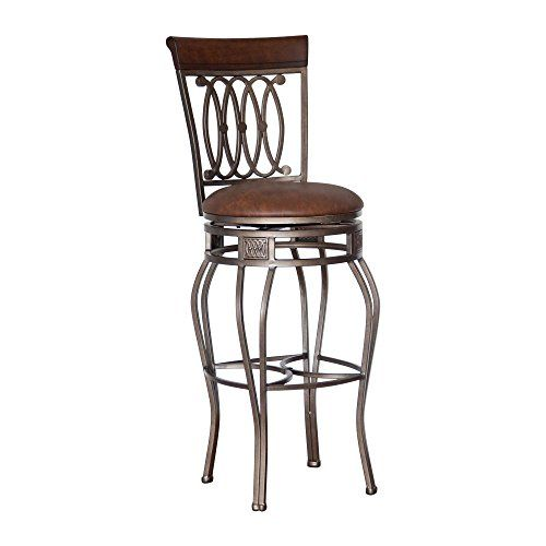 Hillsdale Montello 32-Inch Swivel Bar Stool, Old Steel Finish with Faux Brown Leather  http://www.furnituressale.com/hillsdale-montello-32-inch-swivel-bar-stool-old-steel-finish-with-faux-brown-leather/