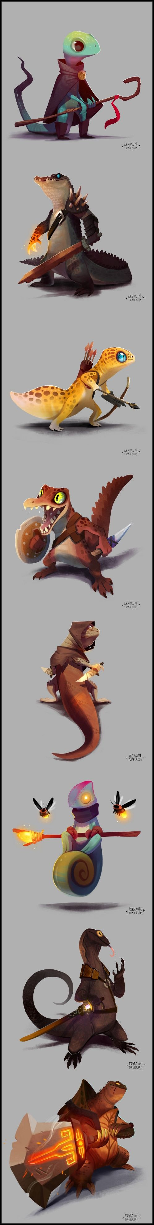 RPG Reptiles by Alex Braun (the snapping turtle is my favourite) - 9GAG