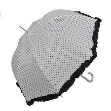Paraplu Wit met Zwarte stipjes, Claire en Eef
