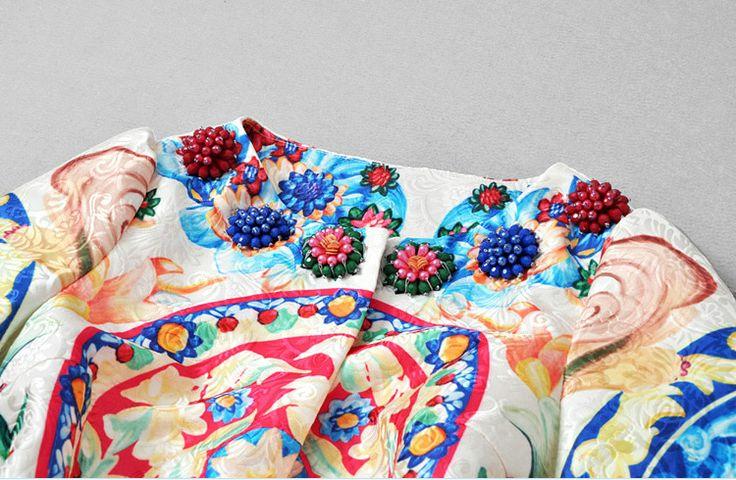 2015 mode vrouwen trenchcoat desigual florale afdrukken elegante vintage prachtige beading wind jas van hoge kwaliteit in Grootte( cn)bustetaillemouwlengtes84744286m88784387l92824488 Maattabel:& plusmn; 2cm is toegestaan( 1 inch = 2,54 van geul op AliExpress.com | Alibaba Groep