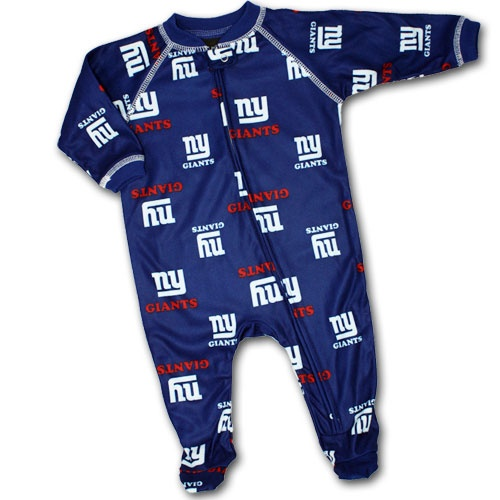 NY Giants Baby Sleeper....need this in adult size!