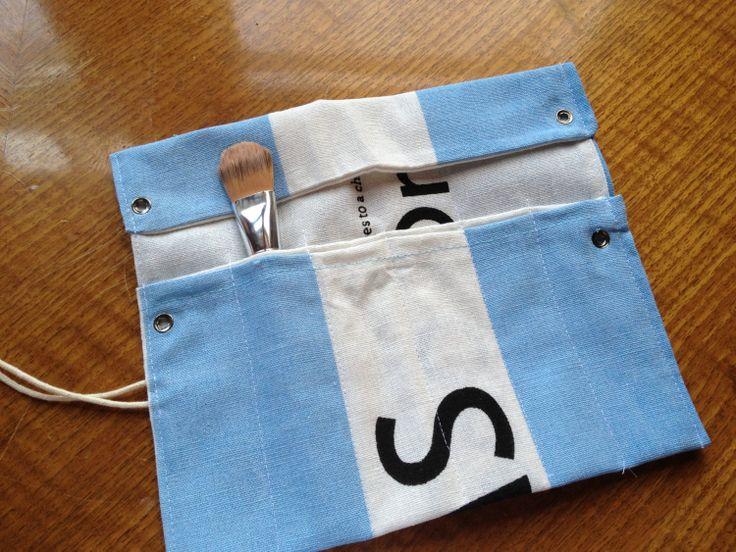 Toms Flag Make-Up Brush Roll. $10.00, via Etsy.