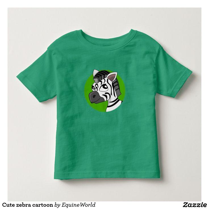 Cute zebra cartoon tee shirt