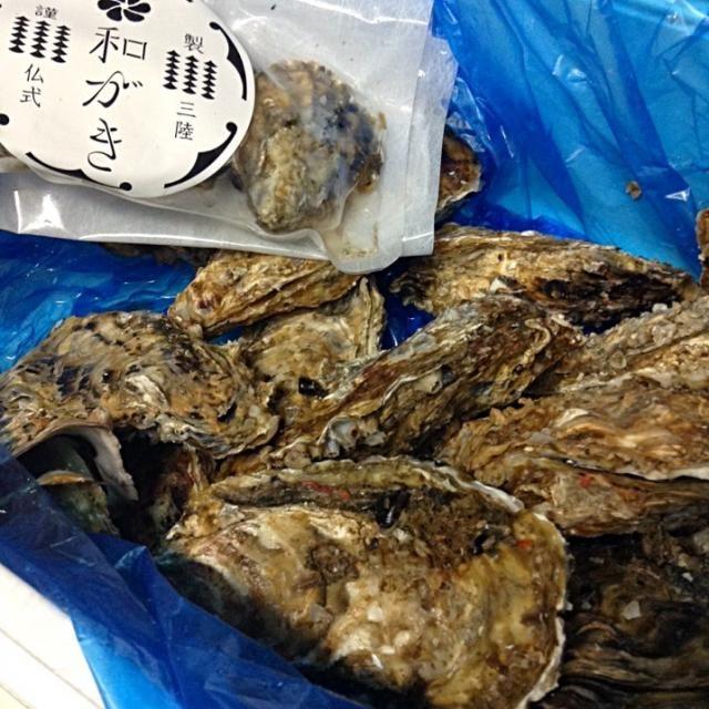 ああ、岩手になってるσ^_^;  宮城県の牡蠣です。。 - 19件のもぐもぐ - 三陸から復興かきが届きました!今からオイル漬け作るぞー! by ococoa