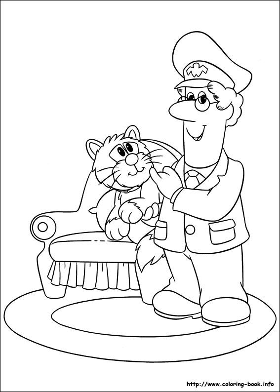 Postman Pat Coloring Picture Postman Pat Coloring Pictures