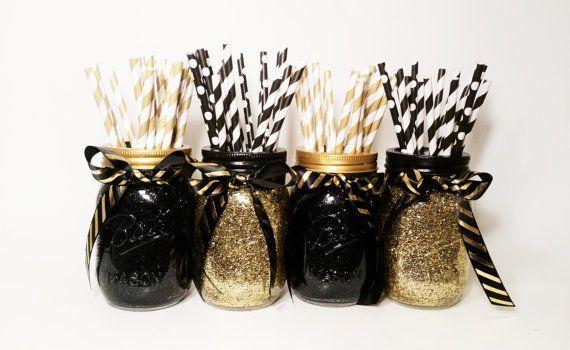 Graduation Party Decorations, Mason Jar Centerpiece, Wedding Centerpiece, Engage…