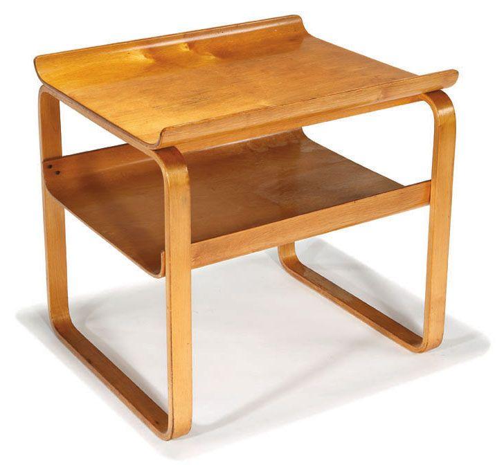 Alvar Aalto; Laminated-birch Occasional table, Model no. 75/915, Designed 1930-31 for Artek.