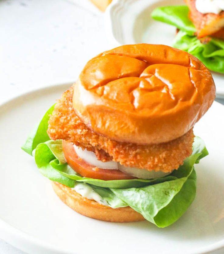 Fried Fish Sandwich Immaculate Bites In 2020 Fish Sandwich Fried Fish Homemade Tartar Sauce