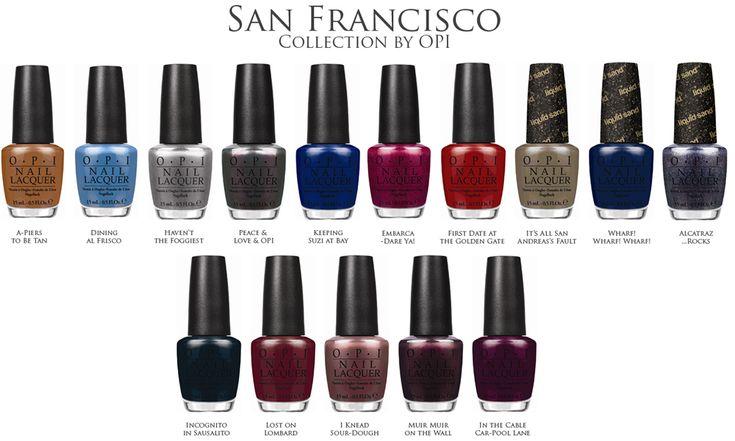 OPI San Francisco Nail Polish Collection for Fall 2013