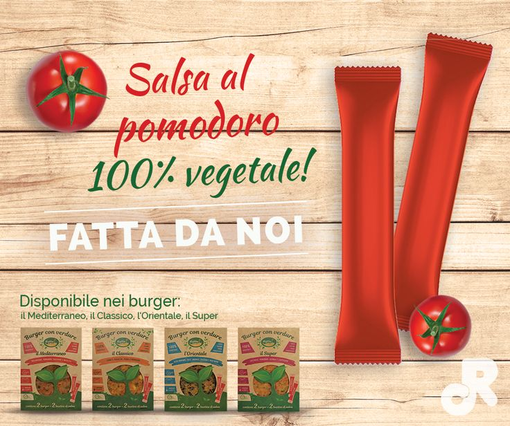 Salsa al pomodoro 100% vegetale! #riverfrut #cottintavola #homemade #salse #burger #vegetali #verdure #vegetables