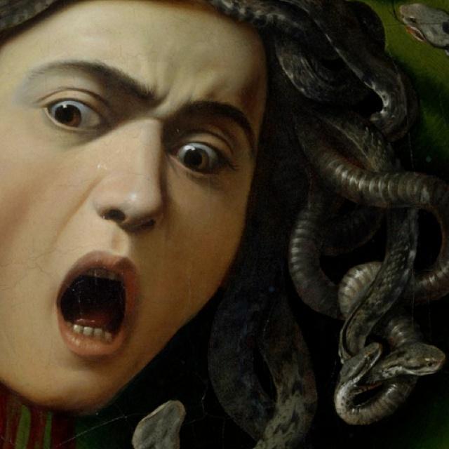 Medusa (1597) - Caravaggio - Galleria degli Uffizi, Firenze - Visualized 2012