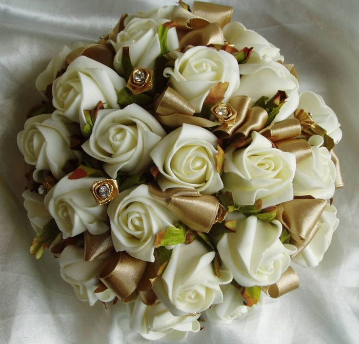 Details About Wedding Flowers Table Posy Roses Amp Diamante All Colours