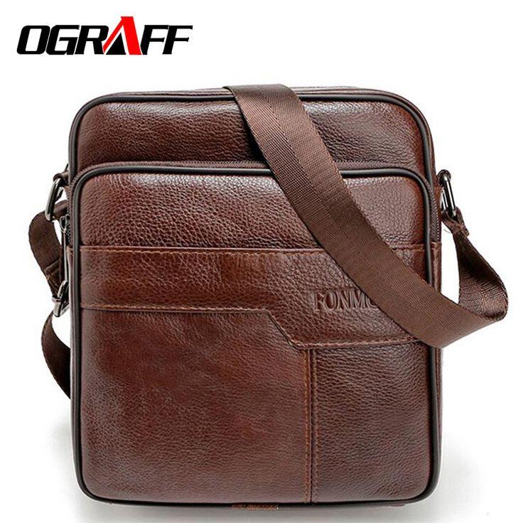 OGRAFF Men messenger bags genuine leather bag casual small business vintage luxury handbag designer shoulder crossbody bag men >>> Khotite dopolnitel'nuyu informatsiyu? Nazhmite na izobrazheniye.